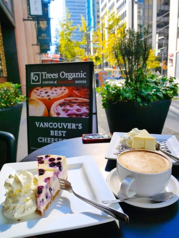 バンクーバーのおすすめのチーズケーキ Trees Organic Coffee & Roasting House