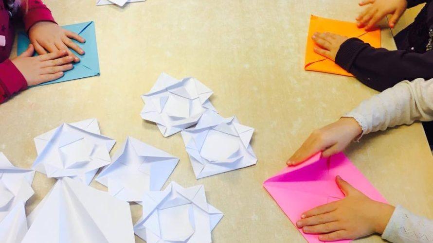 ノルウェーの保育園で折り紙教室を開催!