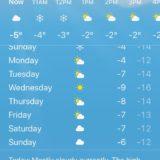 ノルウェー・オスロ 2月の天候・日照時間の変化