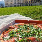 オスロでオススメのテイクアウト! Pzza Pancettaのピザ